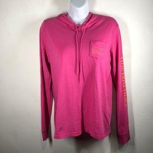 Vineyard Vines pink hoodie top size small